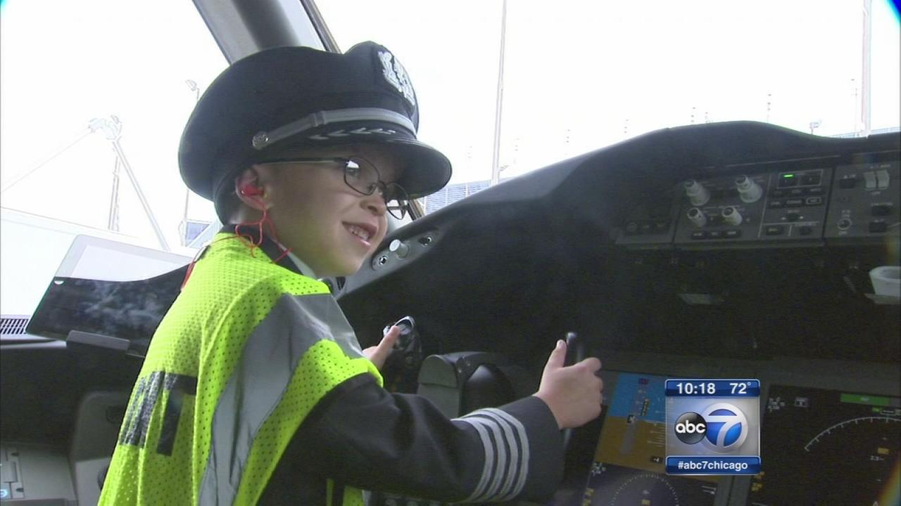 Boy with heart defects gets to be a pilot for a day
