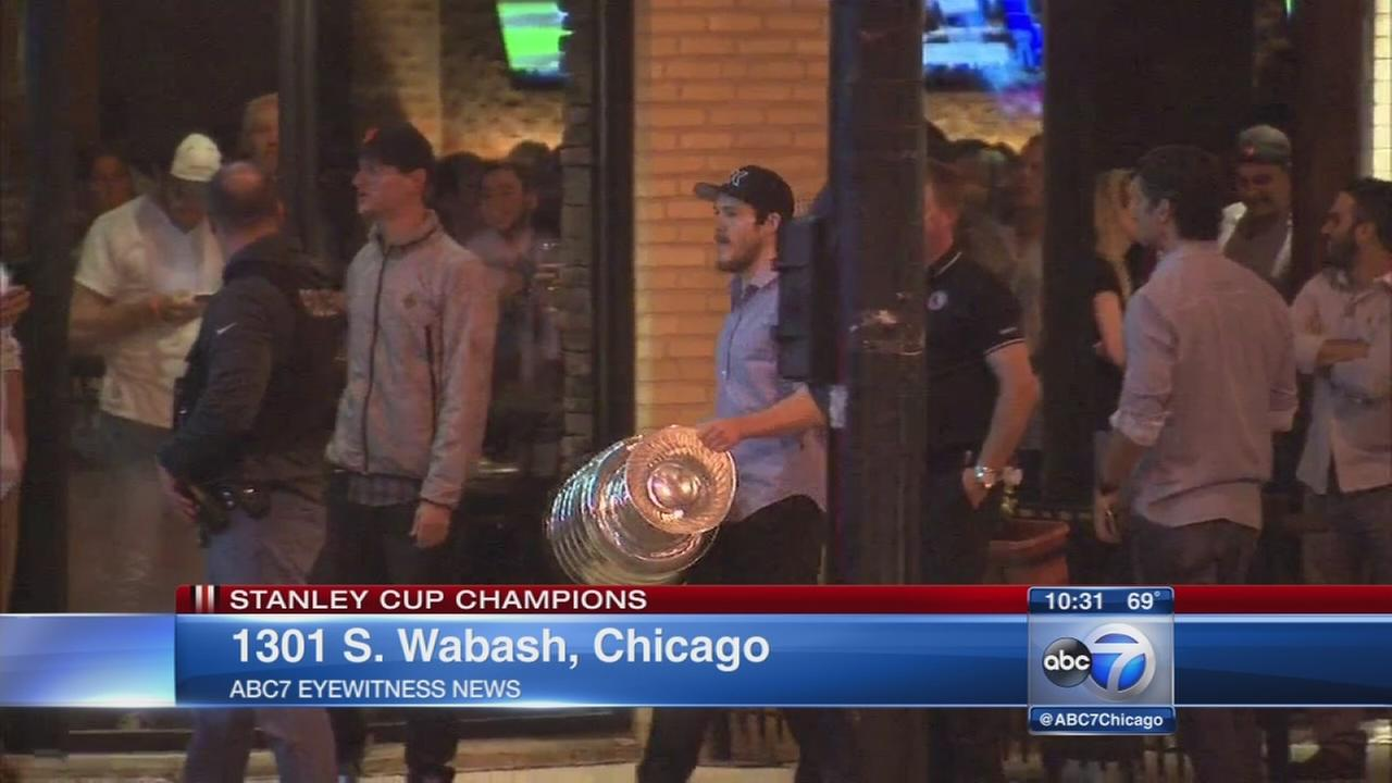 Stanley Cup spotted in South Loop