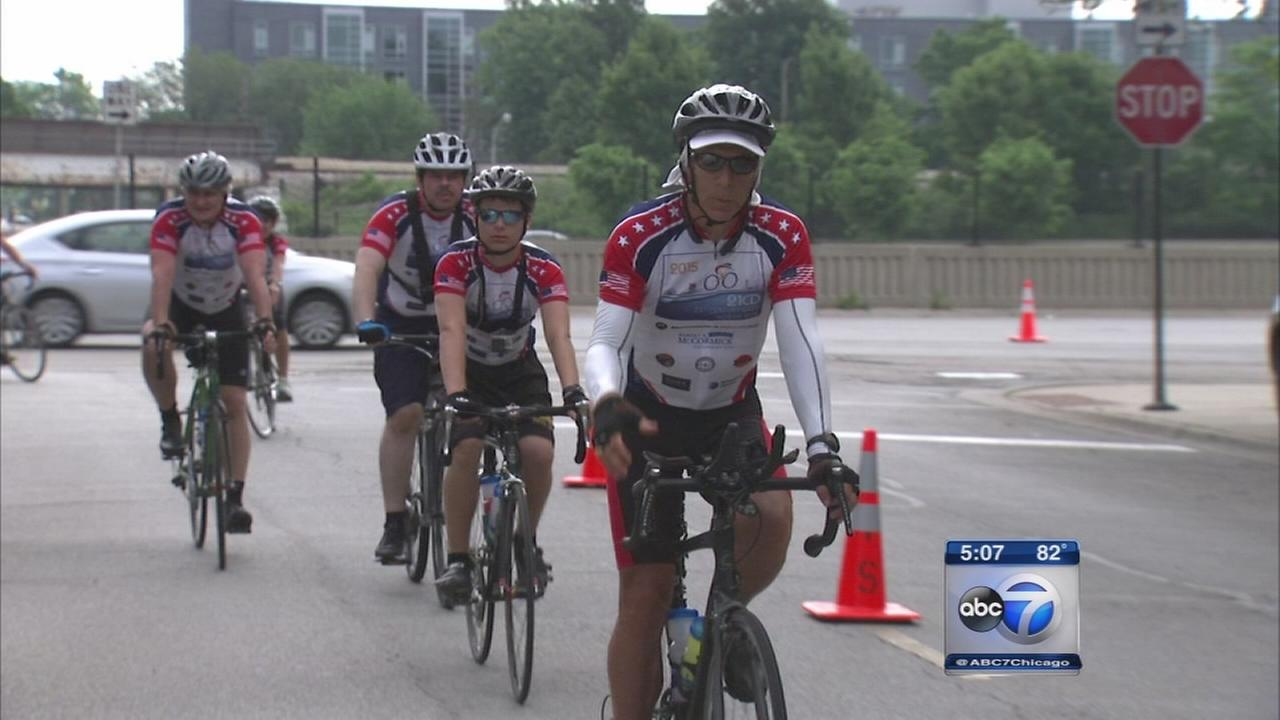 David Hirsch finishes Dads Honor Ride in Chicago