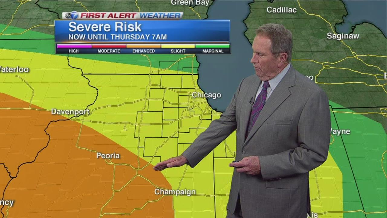 Severe weather possible in Chicago area