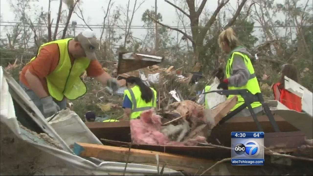 Coal City welcomes volunteers for tornado cleanup
