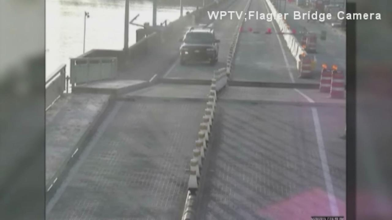 SUV jumps moving drawbridge in Florida