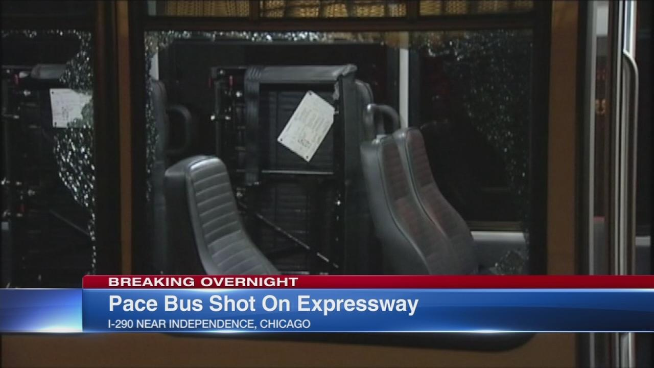 Shots fired at Pace bus on I-290 near Independence