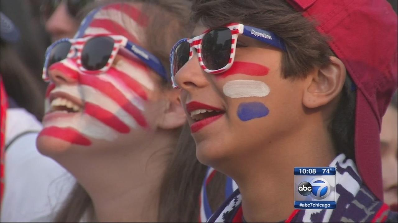 Thousands World Cup at watch party in Lincoln Park