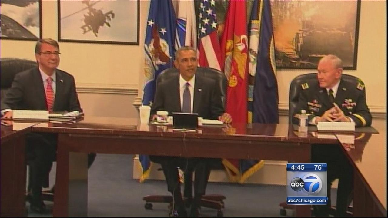 Obama goes to Pentagon for meetings on ISIS