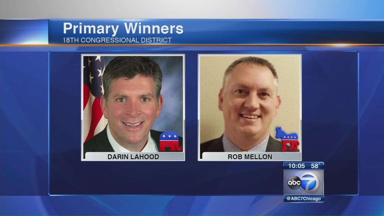 LaHood, Mellon win primary to replace ex-US Rep. Schock