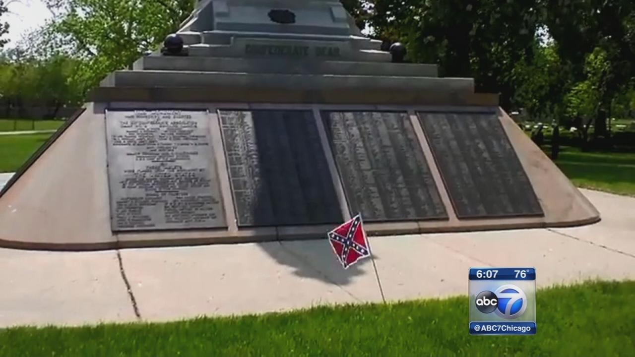 Confederate soldiers buried in Chicago grave