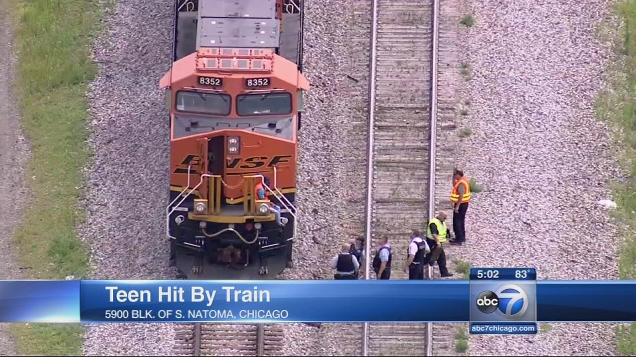 Boy struck by freight train