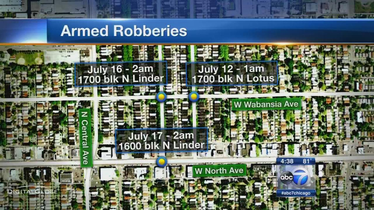 String of robberies hit West Side