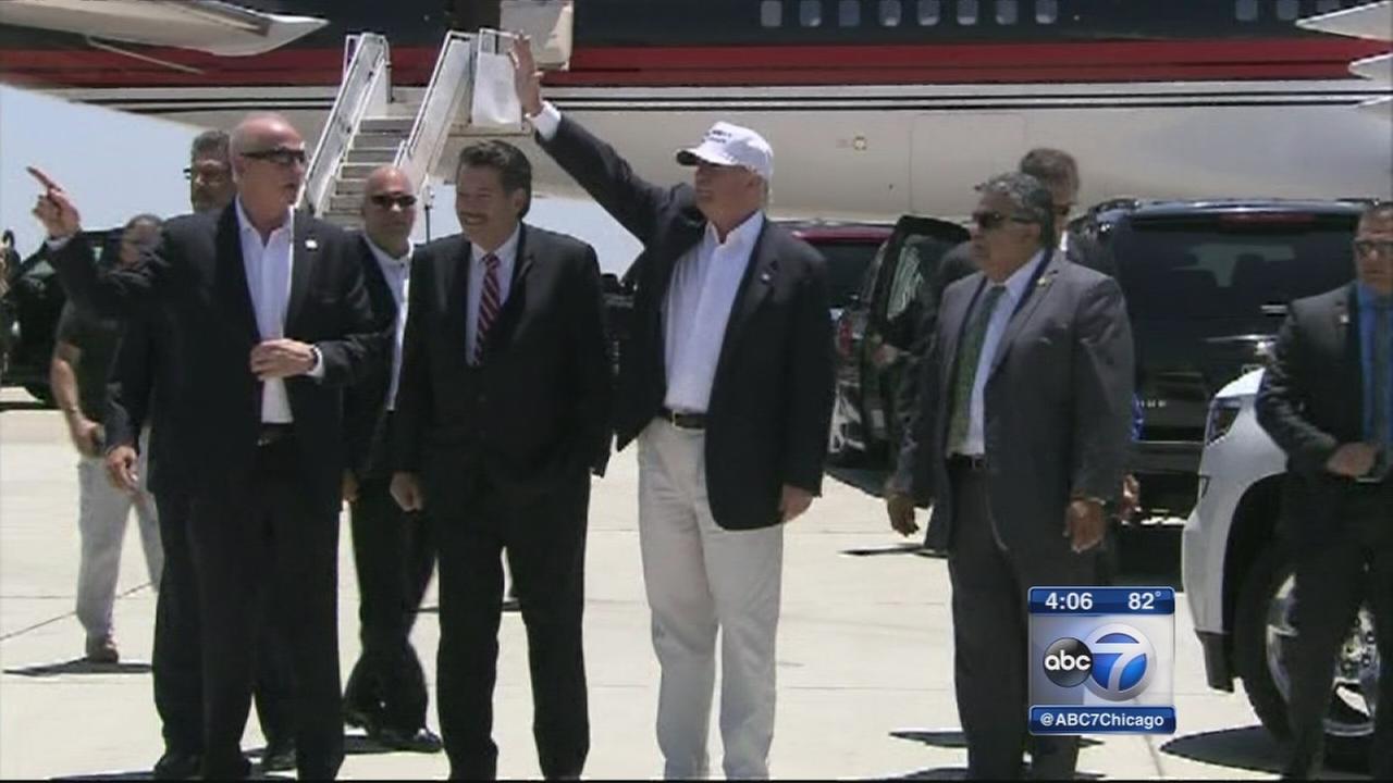 Trump visits U.S.-Mexico border