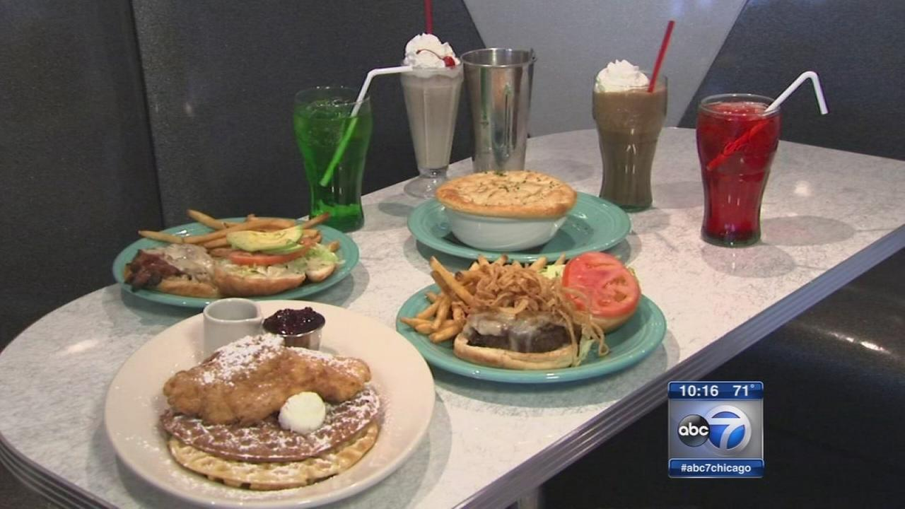 Circa 57 offers old school 50s diner feel, menu