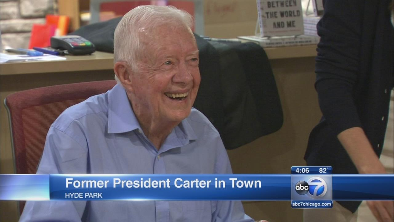 Jimmy Carter in town