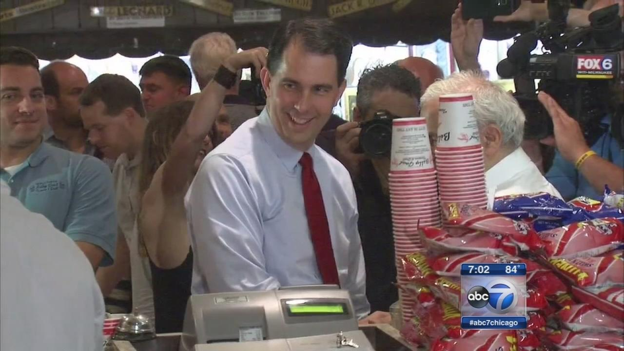 Scott Walker campaigns in Chicago