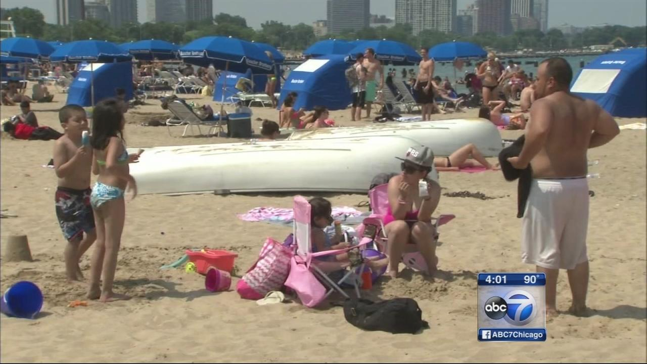 Hot, humid day in Chicago