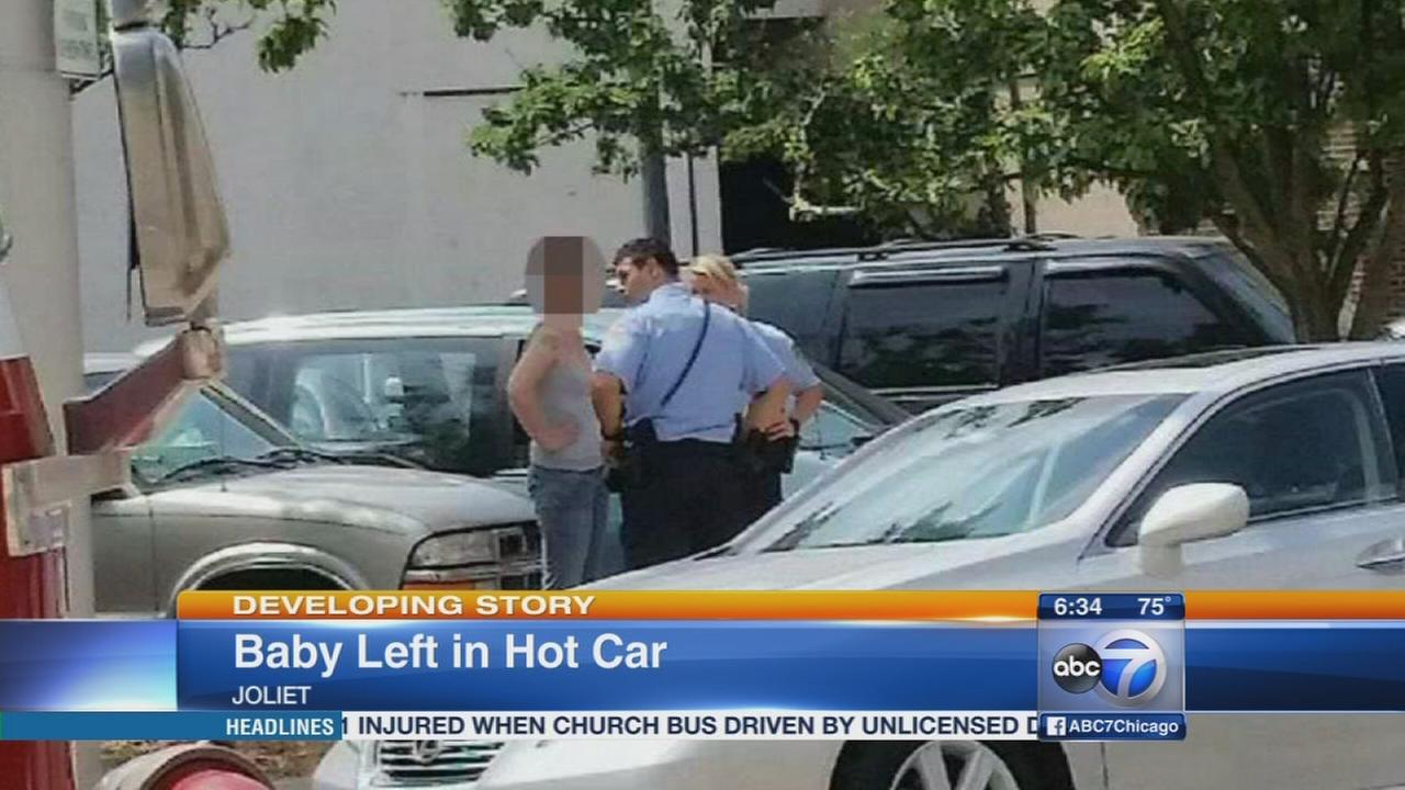 7-month-old boy left in hot car in Joliet