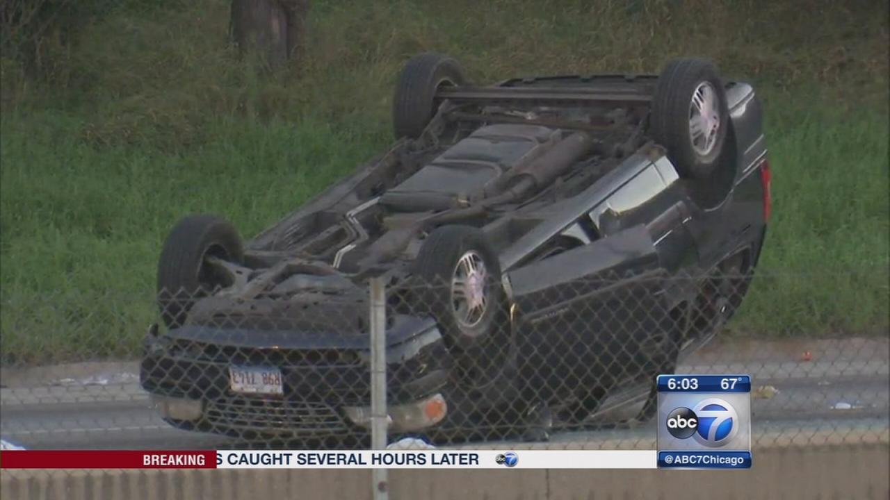 1 dead, 5 injured in I-290 rollover crash at Laramie