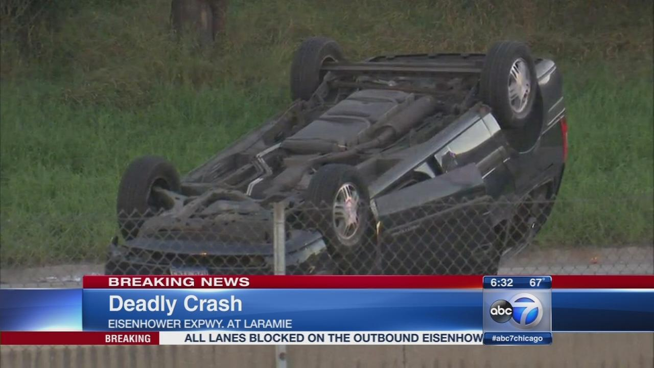 Deadly rollover crash shut down OB Ike at Laramie