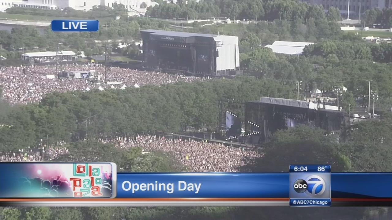 Lollapalooza underway in Grant Park