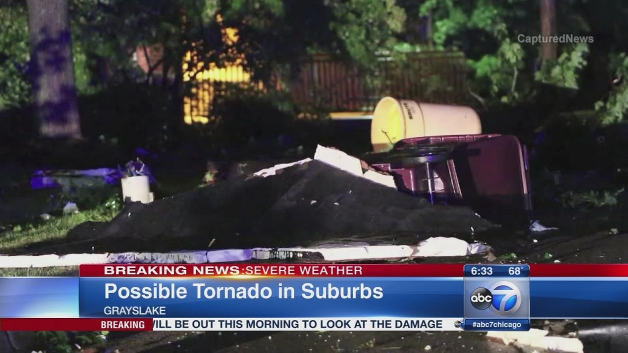 Possible tornado in Grayslake