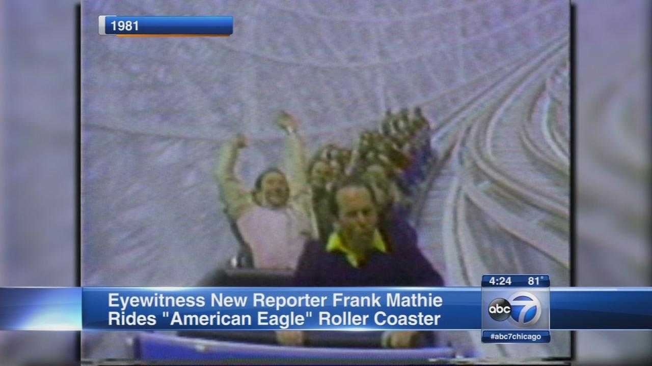 Frank Mathie rides American Eagle rollercoaster