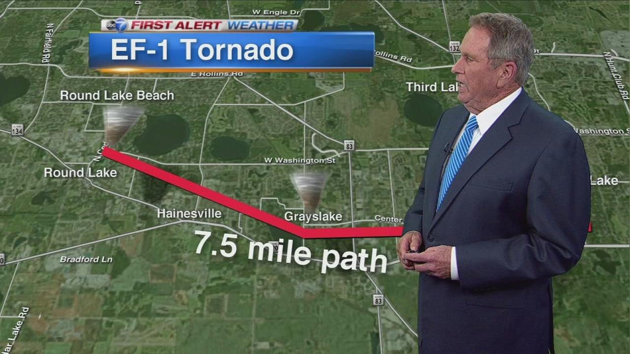 Grayslake hit by EF-1 tornado, NWS says