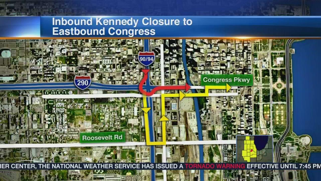 Jane Byrne Interchange ramp closures begin Wednesday PM