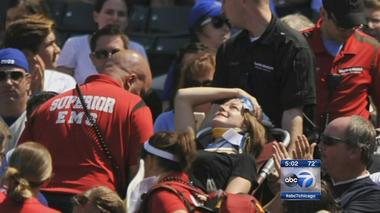 Woman hit by foul ball at Wrigley Field raises stadium concerns