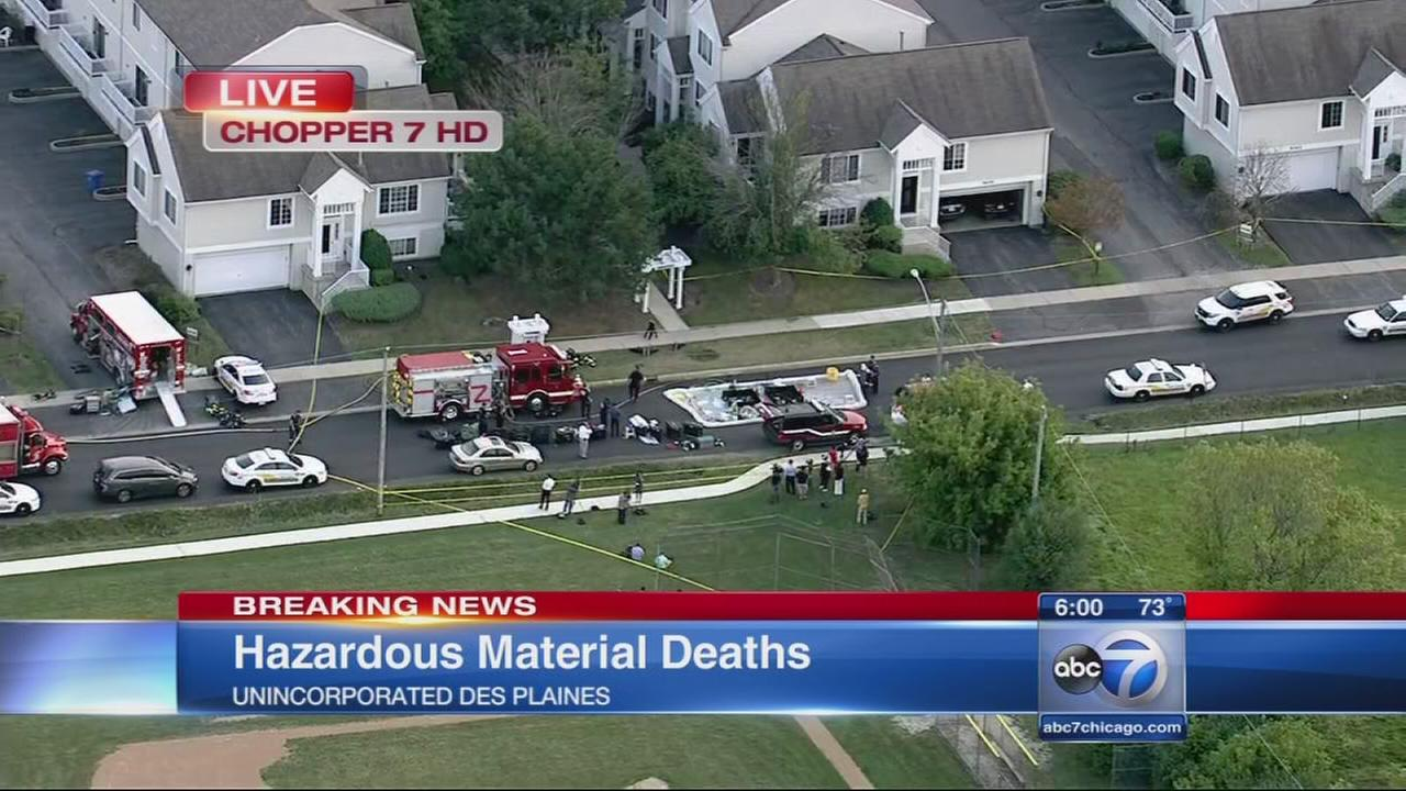 2 dead in suburban hazmat situation