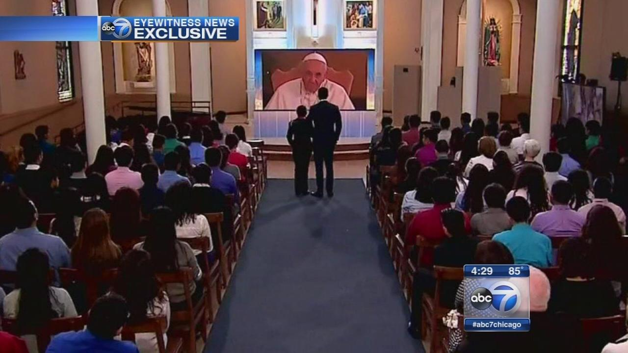 Pope Francis talks with Chicago students during virtual visit to U.S.