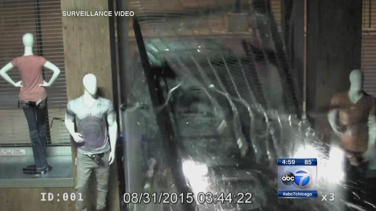 Suspects sought in crash and grab burglary