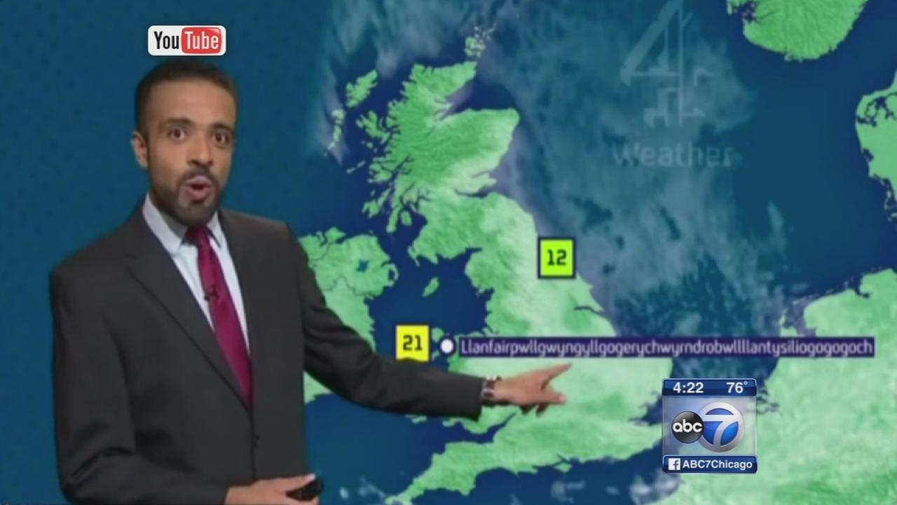 Weatherman perfectly pronounces 58-letter Welsh village