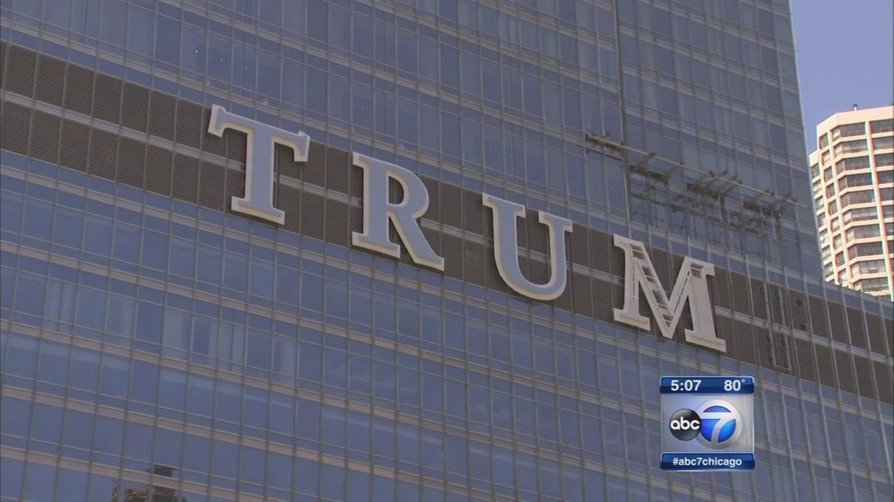 Trump Tower sign nears completion