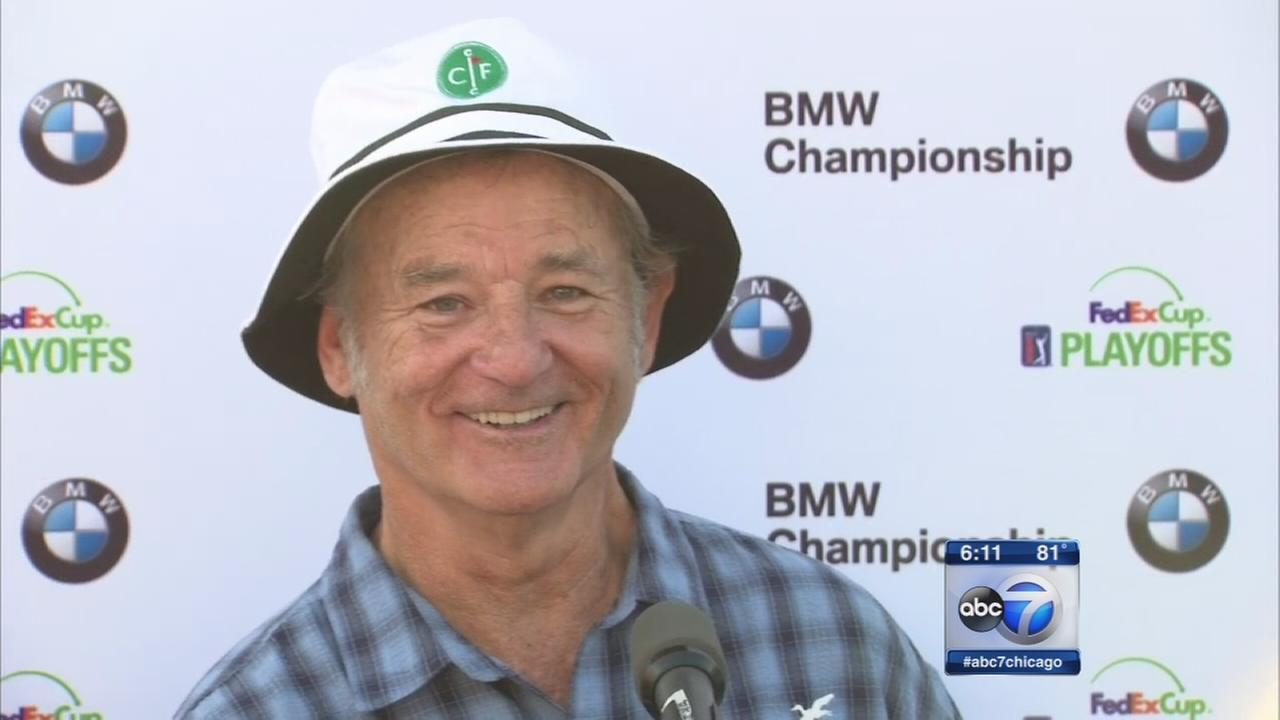 Bill Murray plays for laughs at BMW Championship