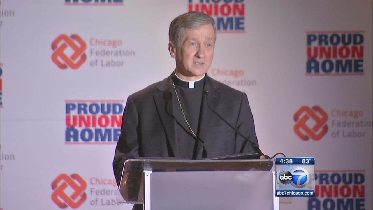 Archbishop Cupich defends unions