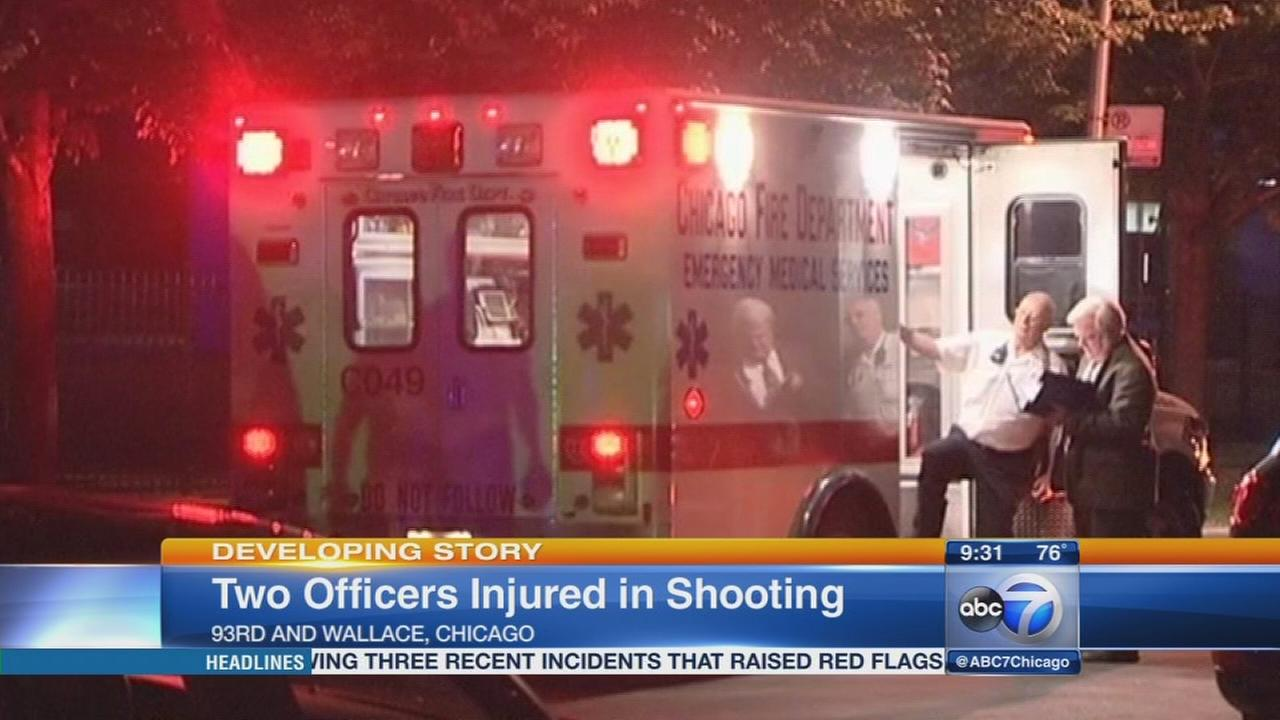 Officers injured in shooting