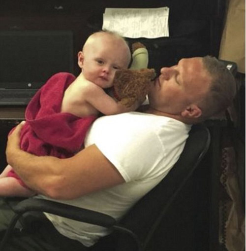 "<div class=""meta image-caption""><div class=""origin-logo origin-image none""><span>none</span></div><span class=""caption-text"">Senior Trooper D.C. Graham gave the baby a bath in the sink and then held him until Child Protective Services picked him up. (West Virginia State Police Princeton Detachment)</span></div>"