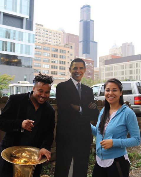 <div class='meta'><div class='origin-logo' data-origin='none'></div><span class='caption-text' data-credit='Ximena N. Larkin'>#BarackingAround with Amir Gray of &#34;Empire&#34;.</span></div>