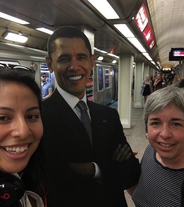 <div class='meta'><div class='origin-logo' data-origin='none'></div><span class='caption-text' data-credit='Ximena N. Larkin'>#BarackingAround on the CTA Red Line.</span></div>