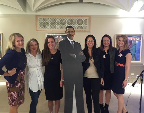 <div class='meta'><div class='origin-logo' data-origin='none'></div><span class='caption-text' data-credit='Ximena N. Larkin'>#BarackingAround at the Sara Center.</span></div>
