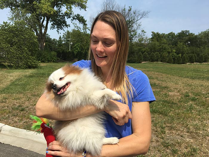 """<div class=""""meta image-caption""""><div class=""""origin-logo origin-image wls""""><span>WLS</span></div><span class=""""caption-text"""">Chubbs with his owner, Nicole.</span></div>"""
