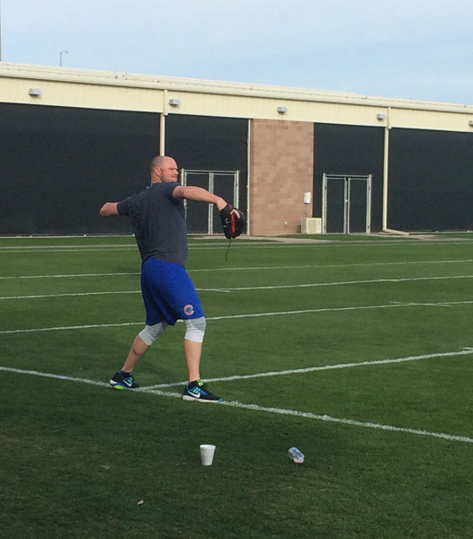 <div class='meta'><div class='origin-logo' data-origin='WLS'></div><span class='caption-text' data-credit=''>Spring training for the Chicago Cubs got underway in Mesa, Arizona this week.</span></div>