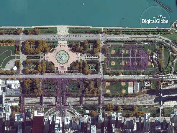 <div class='meta'><div class='origin-logo' data-origin='none'></div><span class='caption-text' data-credit='DigitalGlobe'>DigitalGlobe?s GeoEye-1 satellite captured the Chicago Cubs? World Series victory parade on November 4, 2016. The rally was so large, it could be seen from space.</span></div>