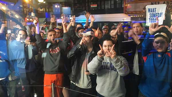 <div class='meta'><div class='origin-logo' data-origin='none'></div><span class='caption-text' data-credit=''>Fans gathering outside ABC7's State Street studio.</span></div>