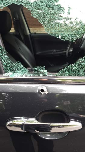 "<div class=""meta image-caption""><div class=""origin-logo origin-image wls""><span>WLS</span></div><span class=""caption-text"">A vehicle damaged by gunfire in the 2600-block of W. Eastwood on July 18, 2016. (Lyle Sande)</span></div>"