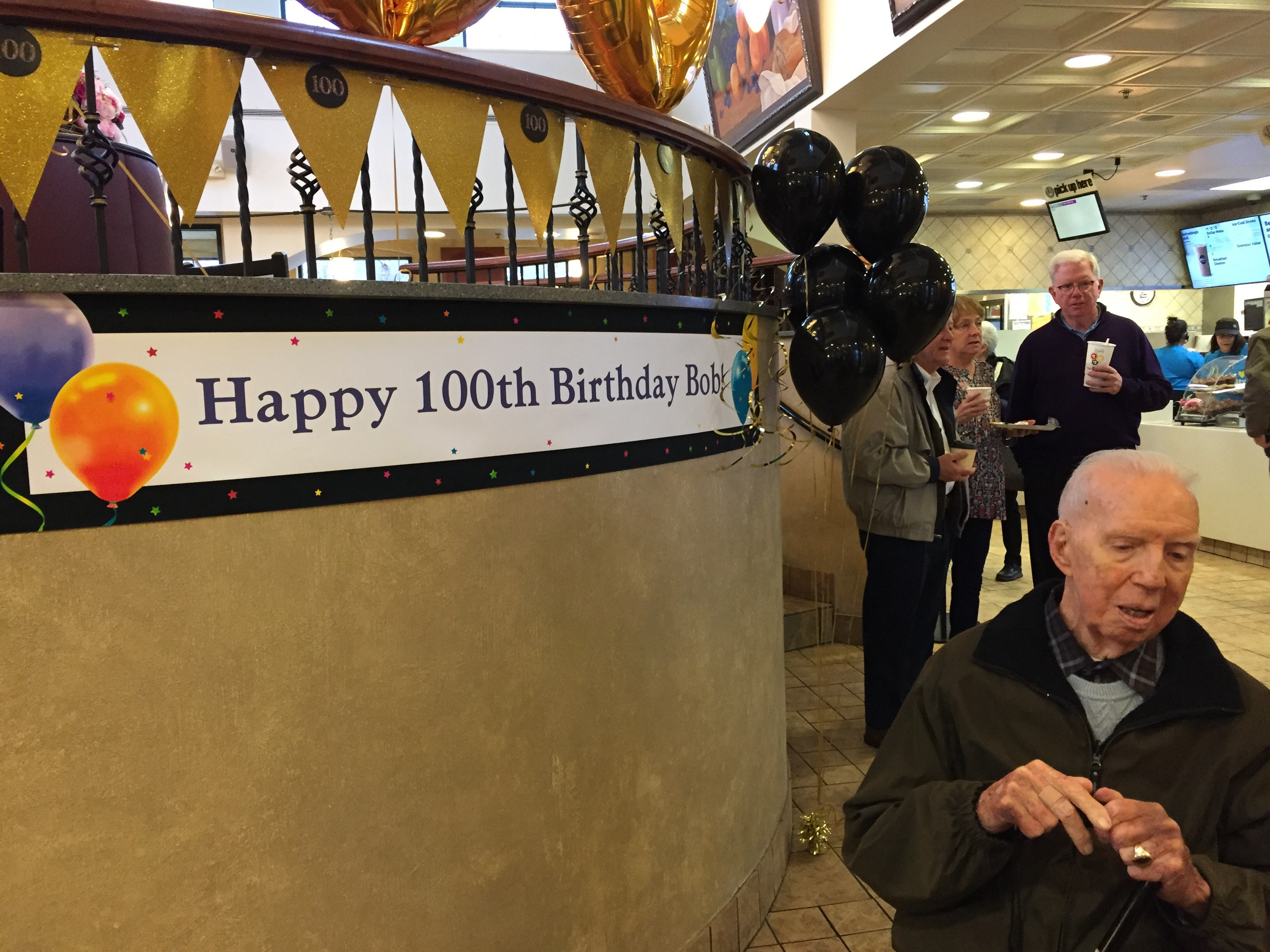 "<div class=""meta image-caption""><div class=""origin-logo origin-image wls""><span>WLS</span></div><span class=""caption-text"">Bob McCarthy celebrates his 100th birthday at the McDonald's on York Road in Hinsdale.</span></div>"