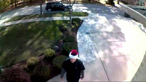 "<div class=""meta image-caption""><div class=""origin-logo origin-image none""><span>none</span></div><span class=""caption-text"">Countyside police said a man stole packages from a front porch in the 9700-block of 57th Street while wearing a Santa hat. (Countryside Police Department)</span></div>"