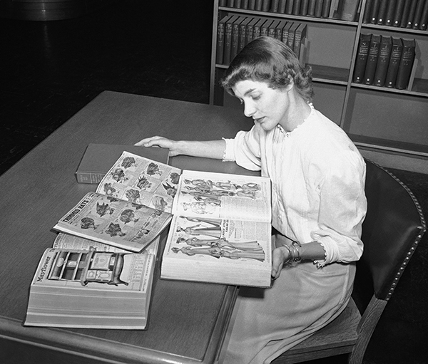 <div class='meta'><div class='origin-logo' data-origin='AP'></div><span class='caption-text' data-credit='AP Photo'>Ruth Parrington, librarian in the art department of the Chicago Public Library, studies early Sears Roebuck catalogs.</span></div>
