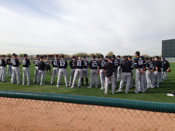 <div class='meta'><div class='origin-logo' data-origin='WLS'></div><span class='caption-text' data-credit=''>Spring training for the Chicago White Sox got underway in Glendale, Arizona this week.</span></div>