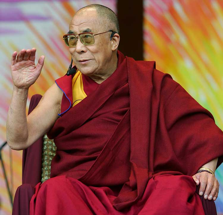The Dalai Lama, the 14th Dalai Lama of Tibet, made his first public appearance in Chicago in 2007 since 1999. <span class=meta>AP Photo/Jerry Lai</span>