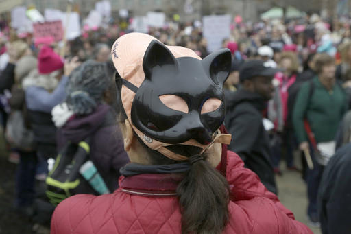 <div class='meta'><div class='origin-logo' data-origin='none'></div><span class='caption-text' data-credit='AP'>Women's March on Philadelphia held Saturday Jan. 21, 2017. (AP Photo/Jacqueline Larma)</span></div>